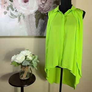 New Directions Neon Green Blouse (M)